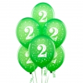 Green Lime No. 2  Latex Balloons 6 Pack